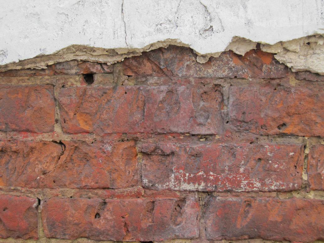 Cracked Plastered Brick Wall by element321