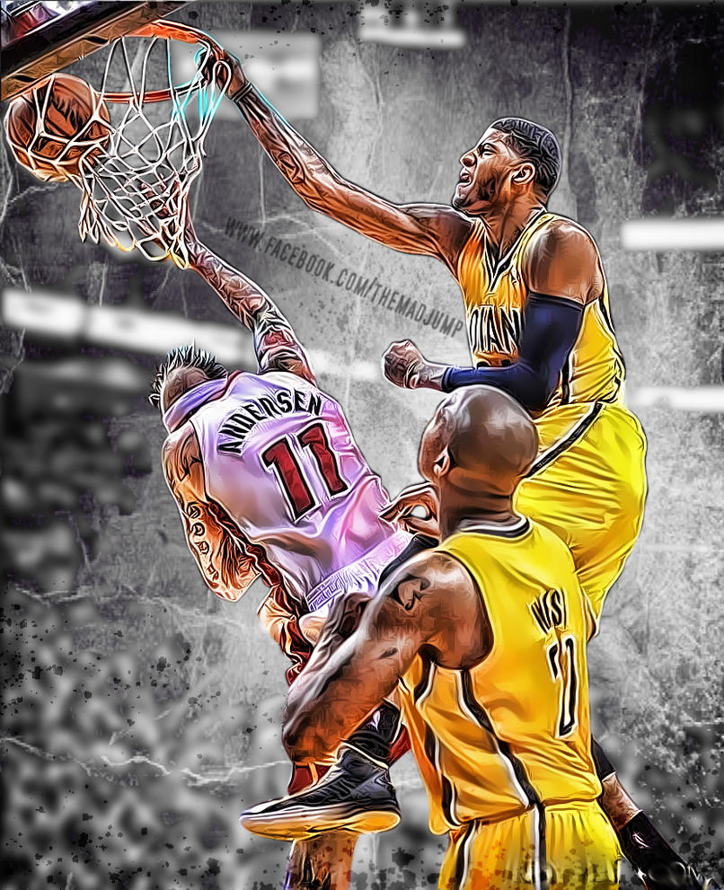 Paul george throws down hard by themadjump on deviantart paul george throws down hard by themadjump voltagebd Image collections