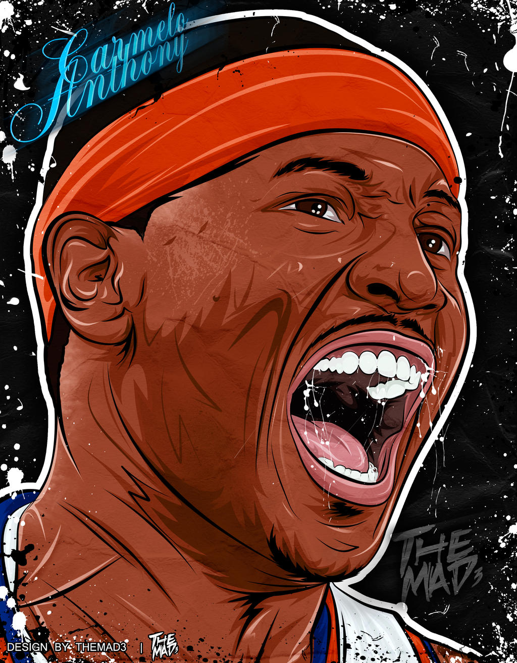 CARMELO ANTHONY - ILLUSTRATION by THEMADJUMP - carmelo_anthony___illustration_by_themadjump-d738zgi