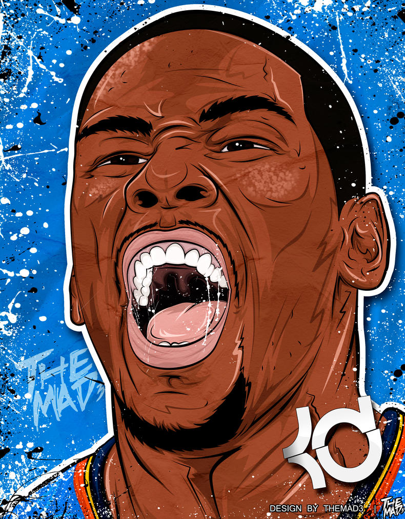 Kevin Durant The Reveal Illustration | basketball gestures ...