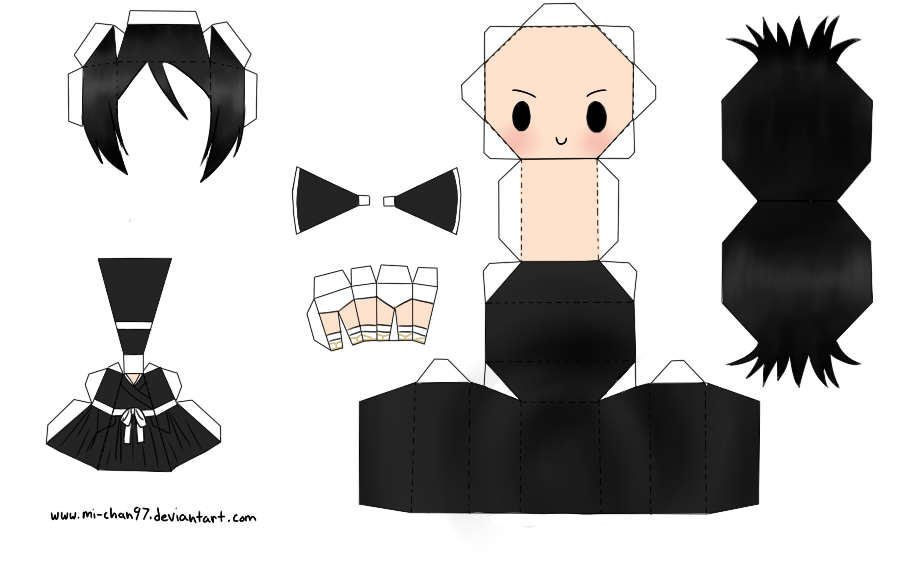 Papercraft Link Template Rukia Papercraft Template by