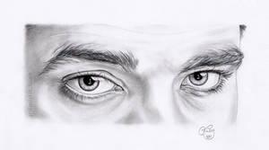 Robert Pattinson Eye Study by EmilyHitchcock