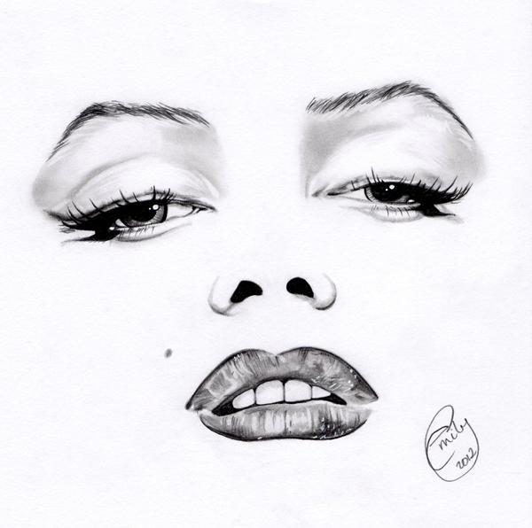 Marilyn Monroe Minimal Portrait by EmilyHitchcock