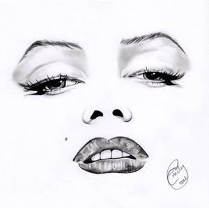Marilyn Monroe Minimal Portrait