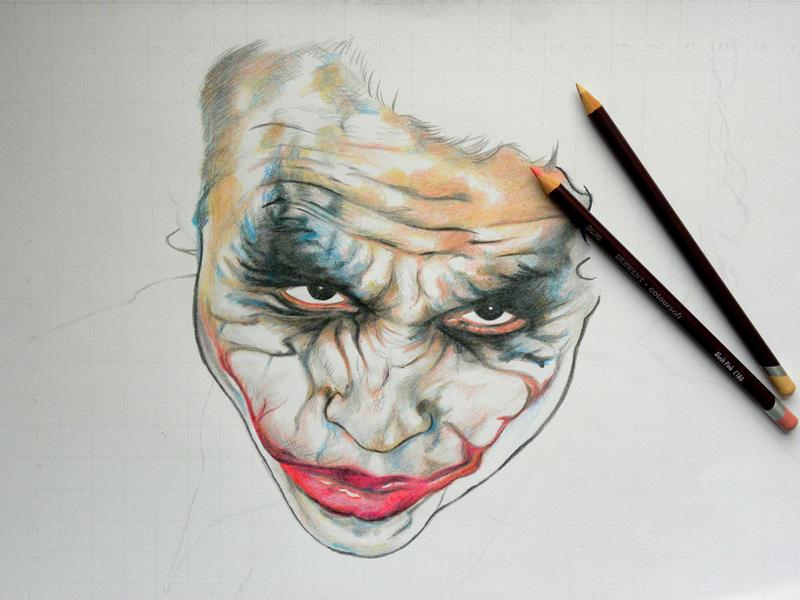 Joker WIP by EmilyHitchcock