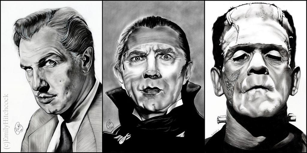 Vincent/Bela/Karloff by EmilyHitchcock