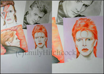 David Bowie collage WIP2 by EmilyHitchcock