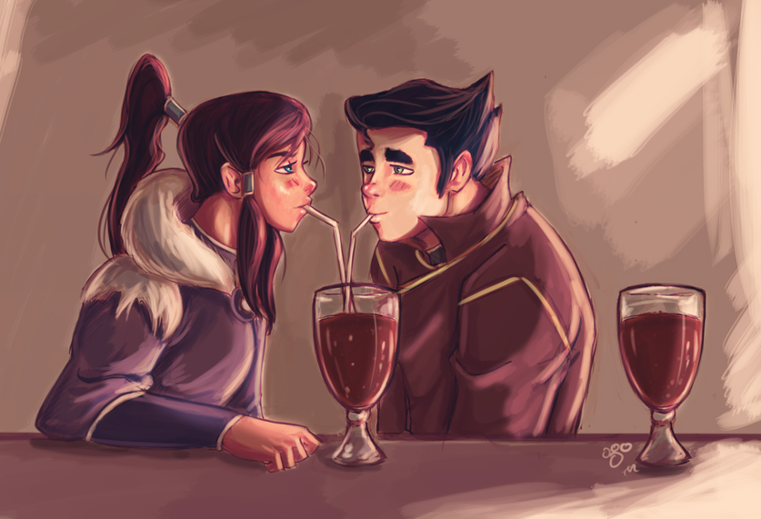 a drink or two by pandatails