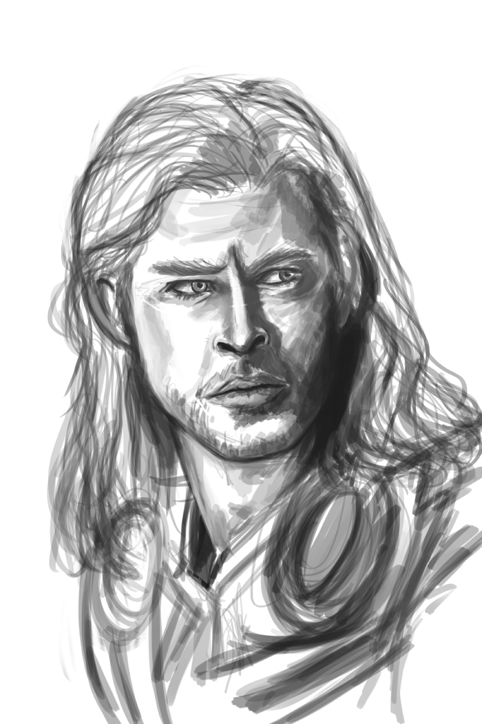Thor_Sketch By Pandatails On DeviantArt