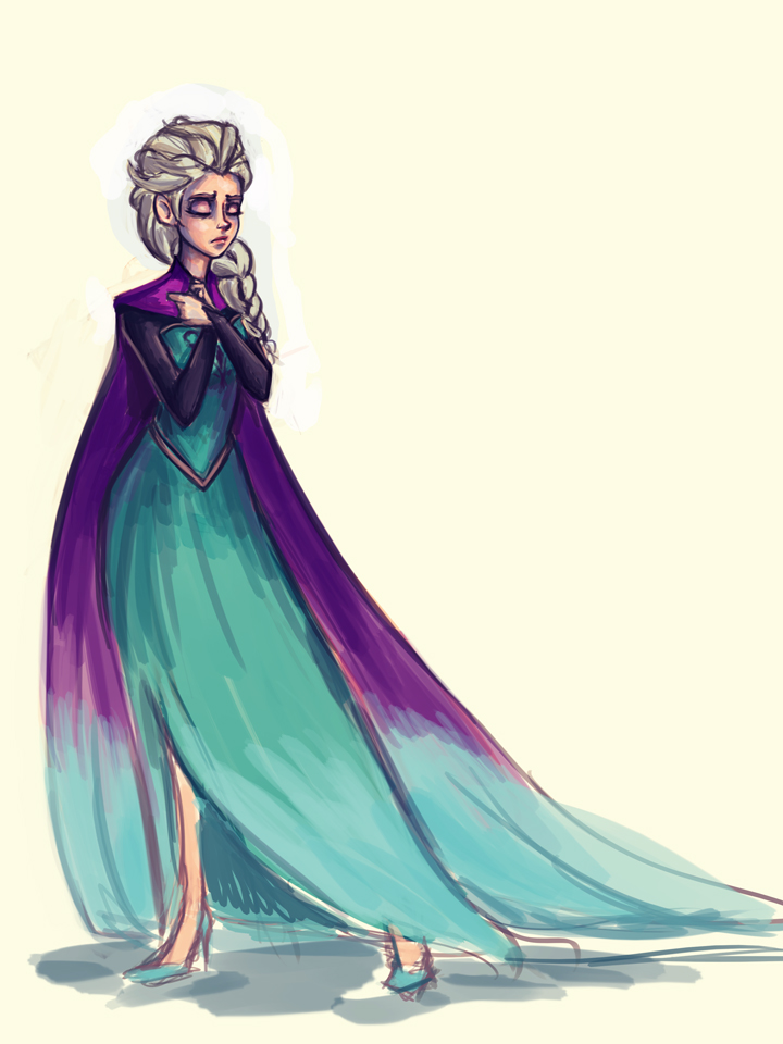 Queen Elsa_WIP by pandatails