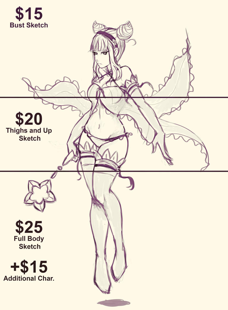 Commission Info for Sketches by pandatails