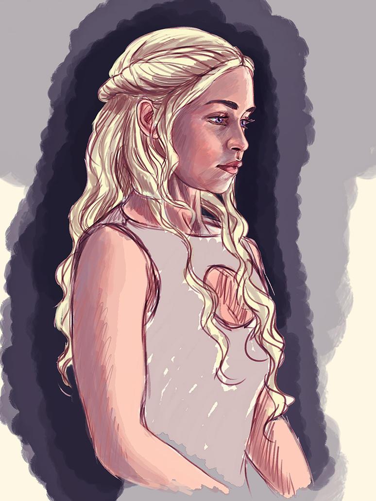 Daenerys Targaryen WIP by pandatails