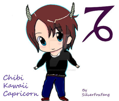 chibi cute capricorn by SilverFoxFang