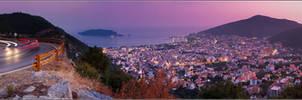 Budva. Panoramic view by YuppiDu