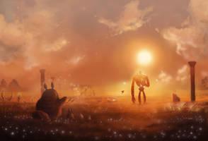 Laputa Guardian meets Totoro by Ioruko