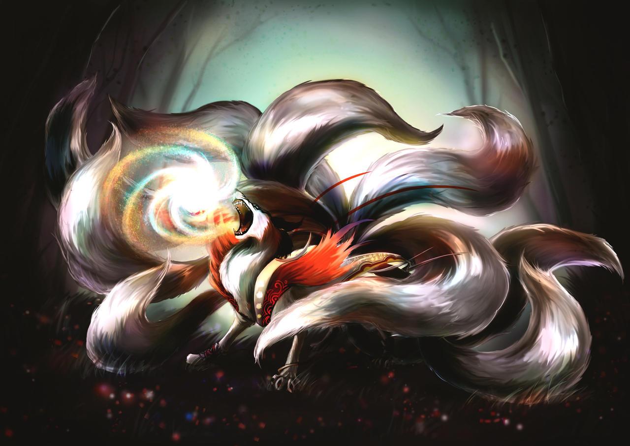 Ahri's true form by Ioruko on DeviantArt Lol Ahri Hot