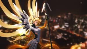 Overwatch Mercy 1920x1080 wallpaper