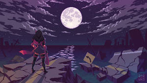 Moonlit ruins
