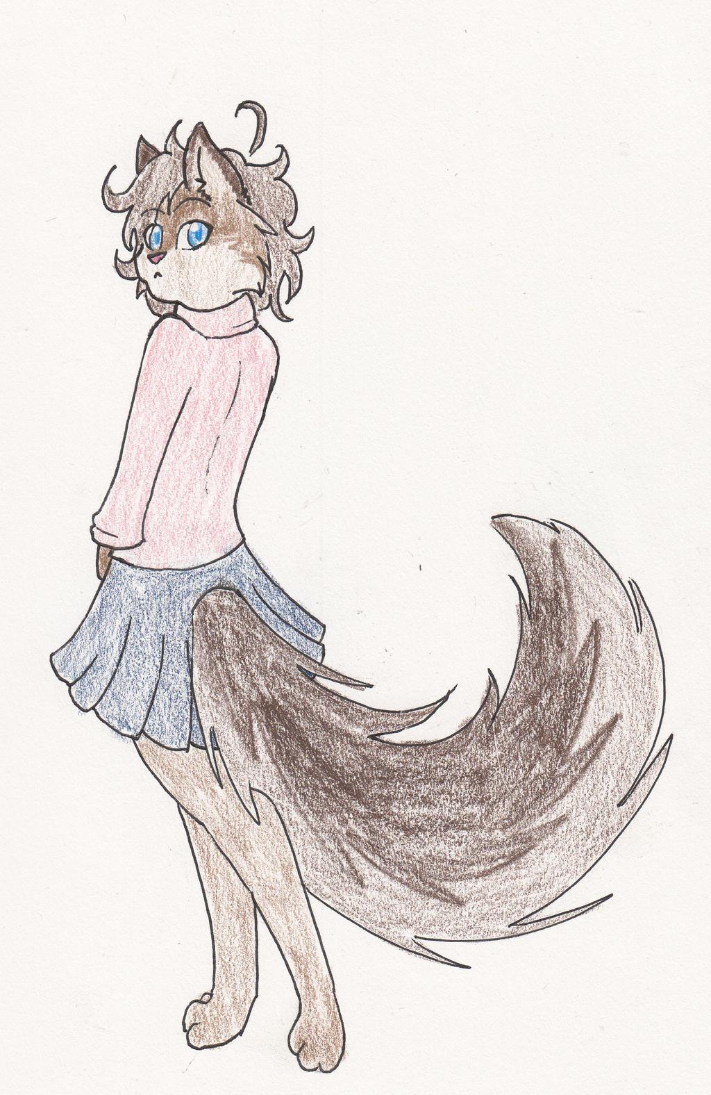 Miniskirt Kitty by moonlightartistry