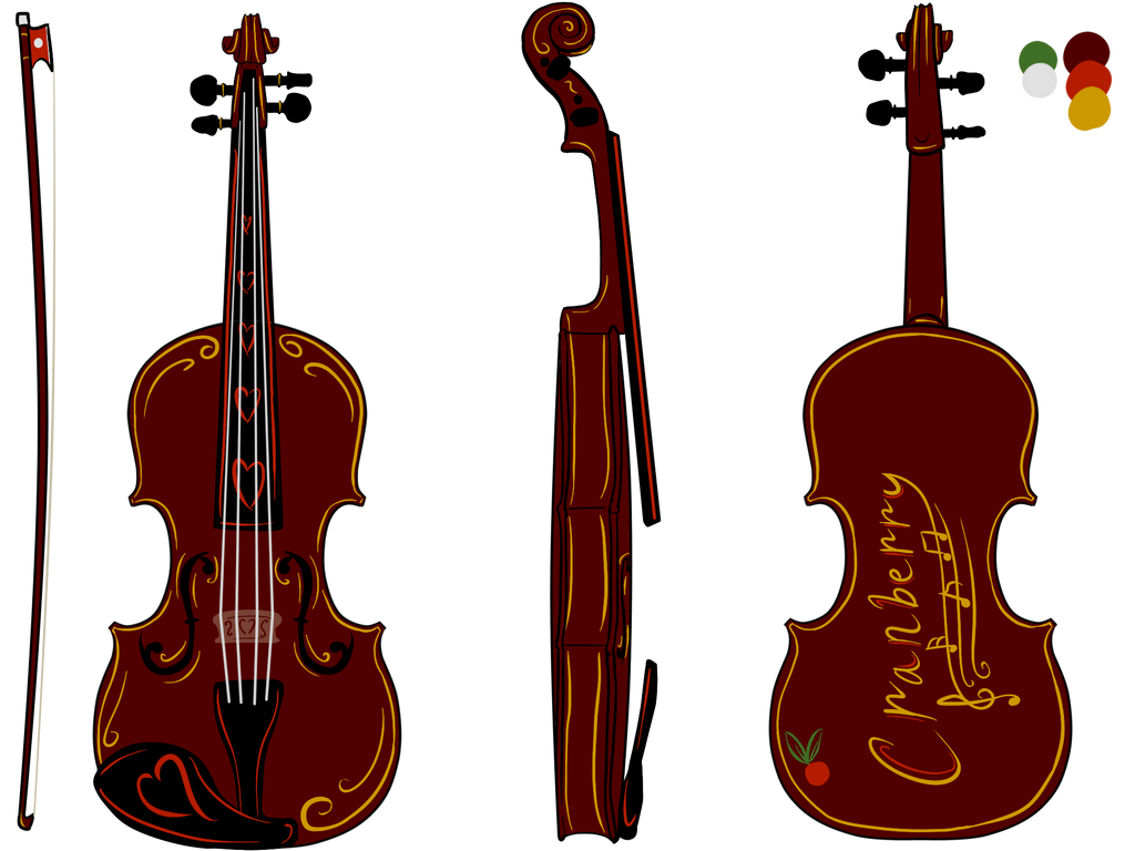 Cranberry Violin by moonlightartistry