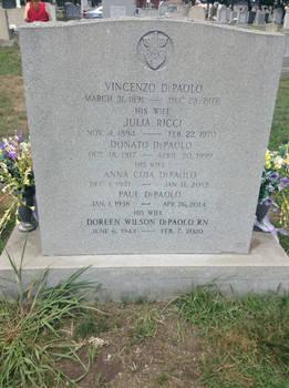 Grandparents gravestone updated
