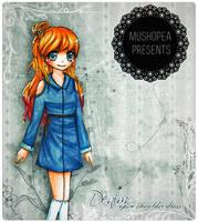 #1 Open shoulder denim dress by mushomusho