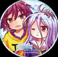 sora and shiro by mushomusho
