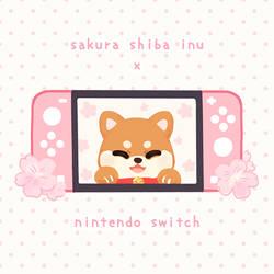 sakura shiba inu nintendo switch