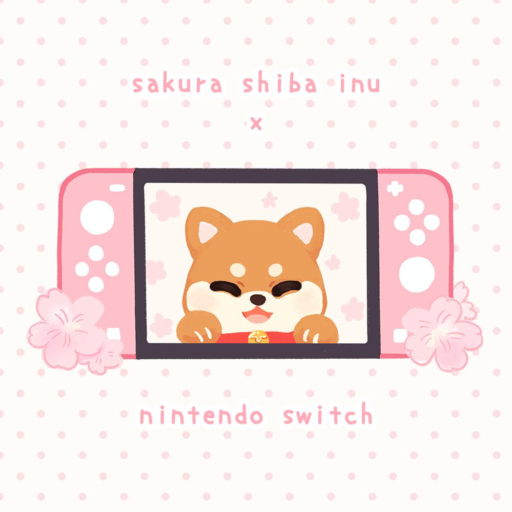 sakura shiba inu nintendo switch by mushomusho