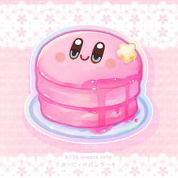 Kirby souffle pancake sticker  #kirby #cutedesser