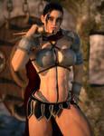 Fia - a female barbarian