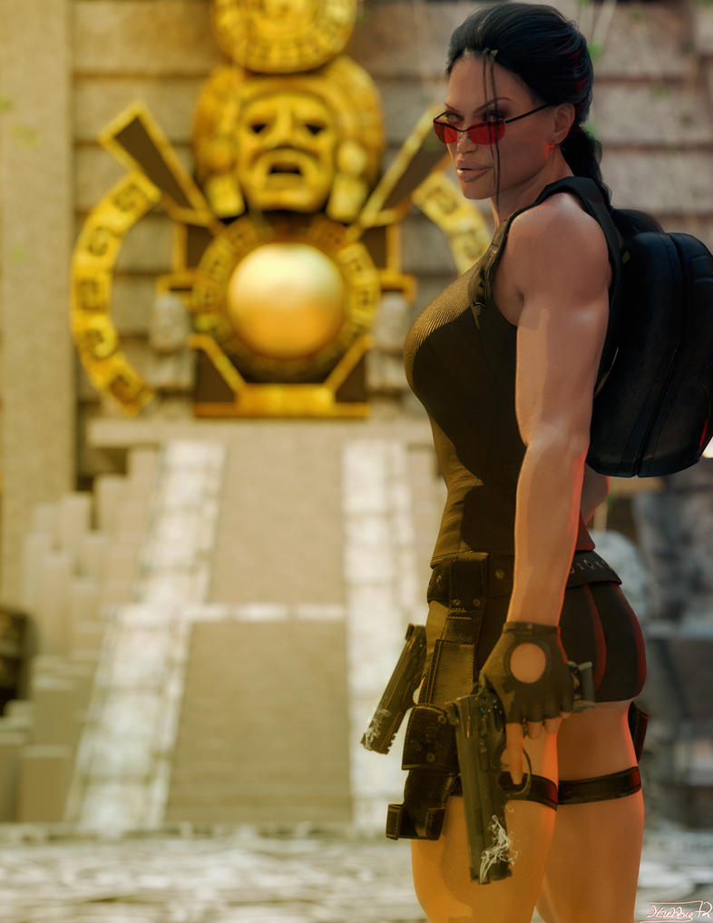 Lara Croft and the Mayan Temple by Hubby72