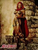 Red Sonja Stairs by Hubby72