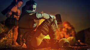 Fia - Lady Warriors at Campfire