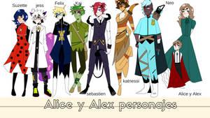 Alice y Alex el encanto de la bruja- personajes