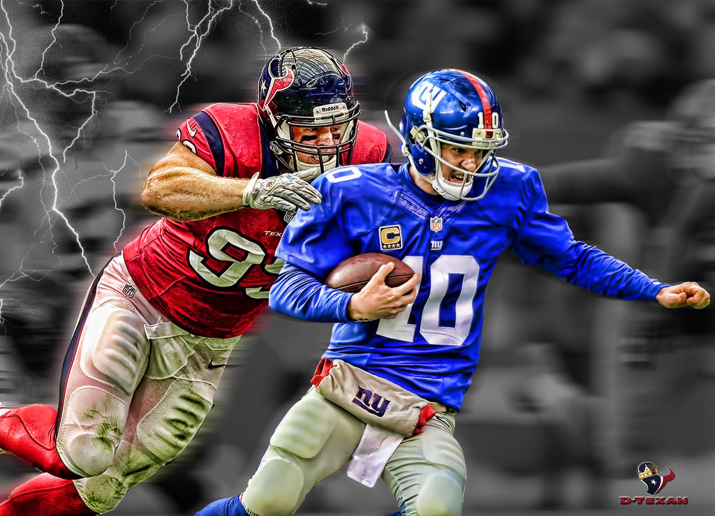 jj watt eli manning by dtexanz on deviantart