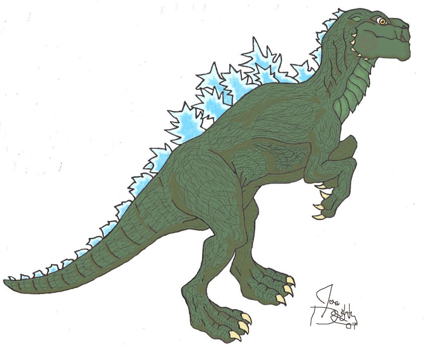 how to draw godzilla 1998