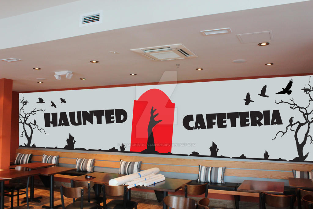 Corporate id haunted wall mural design by anarchistic for Corporate mural