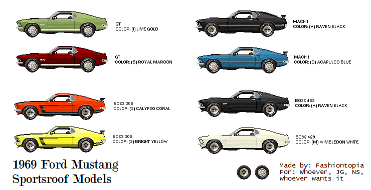 1969 Ford Mustang Sportsroof Models by Abramsgavin on DeviantArt