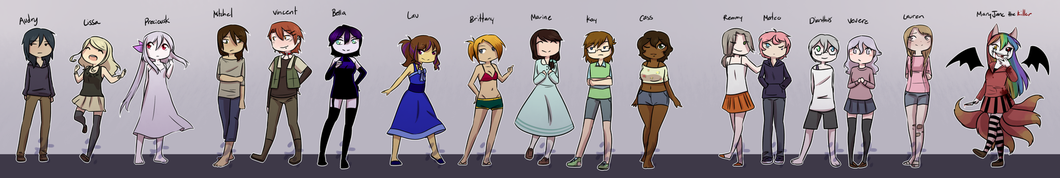 All the OCs by PreciousKnightwalker