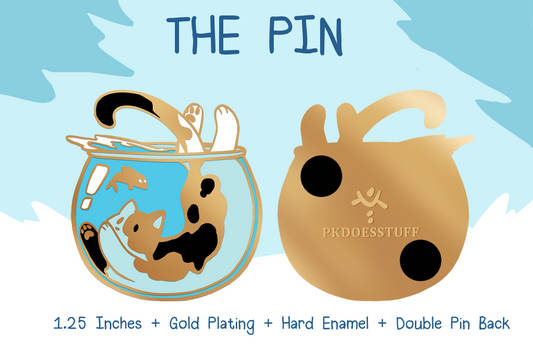 [LAST DAY!] Cat Snack Enamel Pin Kickstarter!!!