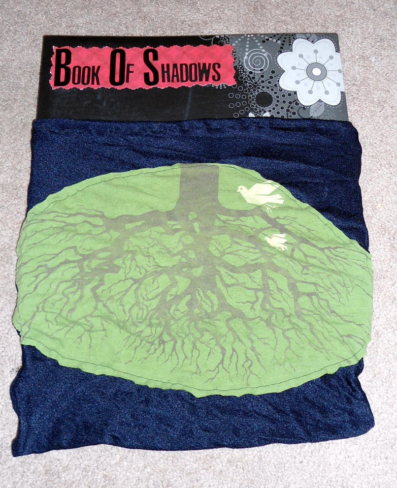 Reusable Fabric Book Cover : Book of shadows cloth cover by raheheul