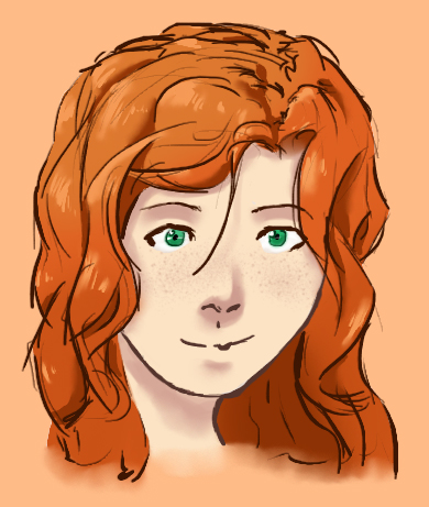 red haired character 2 by TheMim