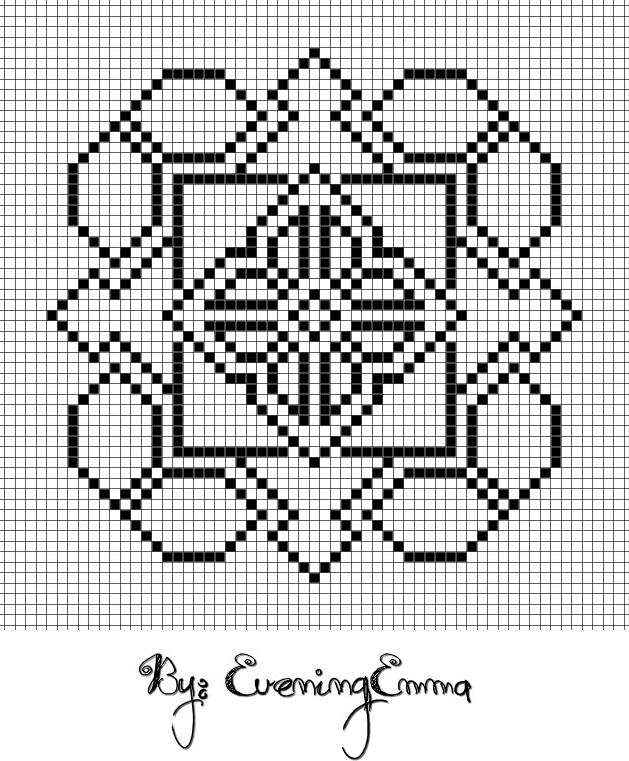Symmetric pattern - no colours by eveningemma