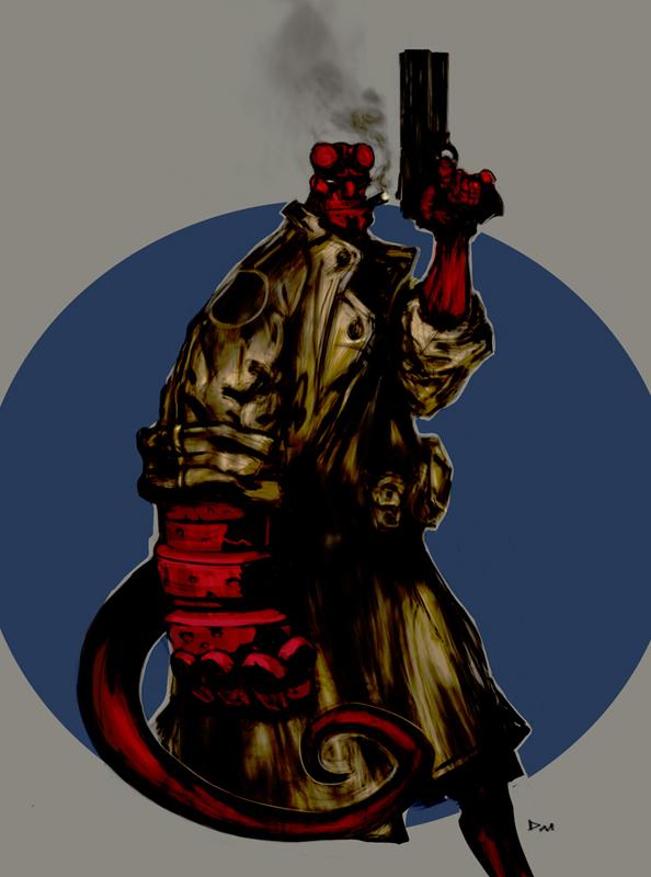 Hellboy by Slimdimanus