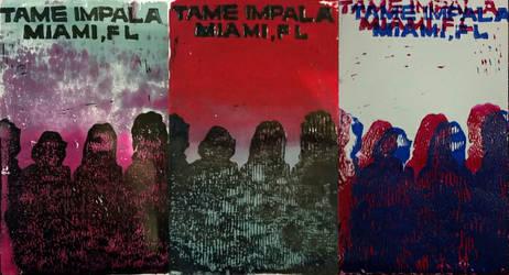 Tame Impala Linoleum Concert Poster by Katamarigoround