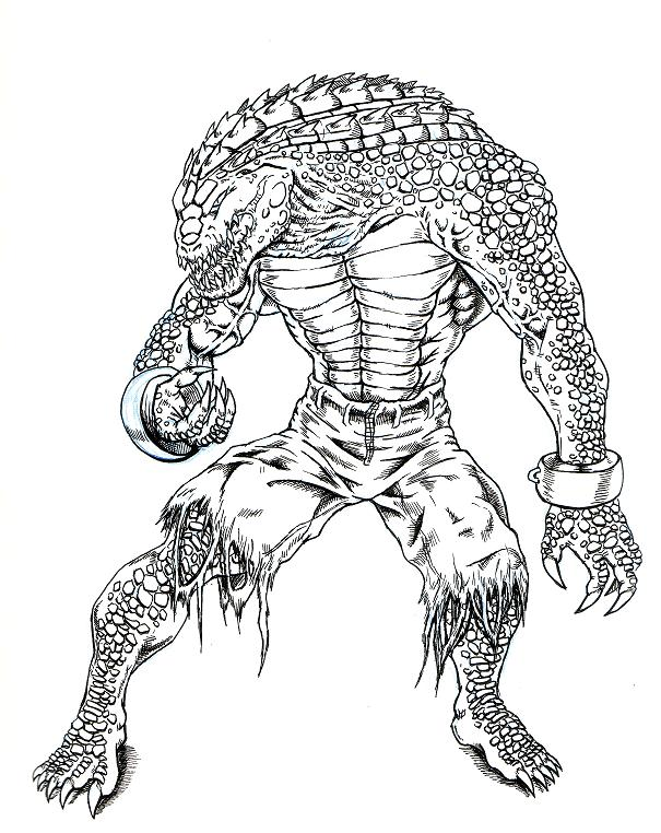 Lego Marvel Coloring Pages Awesome Gemtlich: KILLER CROC ATTACK By EvilHayato On DeviantArt
