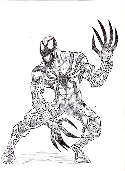 carnage spider man coloring pages - photo#7