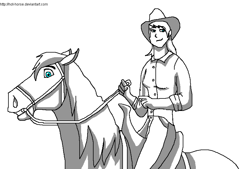 Cowgirl And Horse Base By Hot Horse On Deviantart