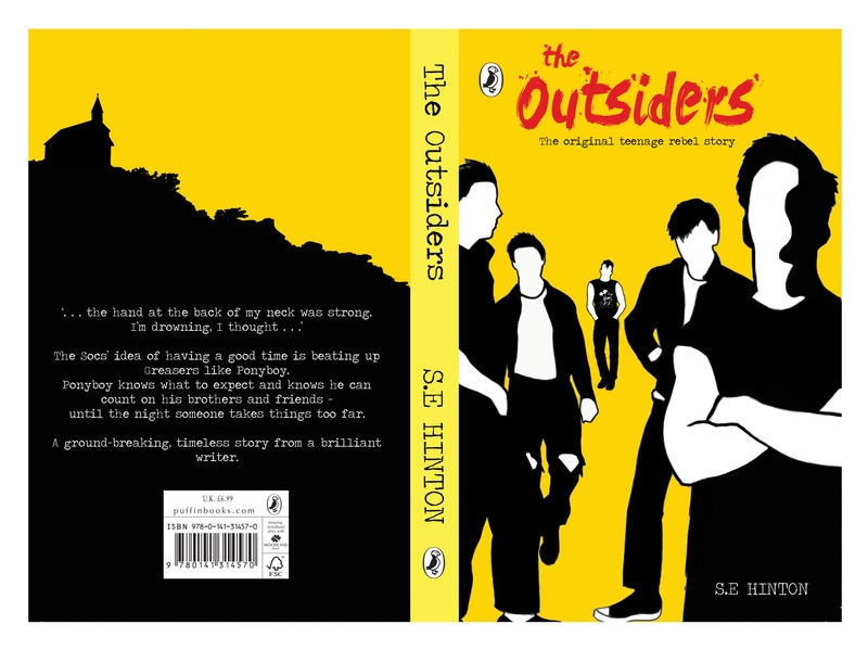 The Outsiders Book Cover Ideas ~ The outsiders book cover by katie lancaster on deviantart